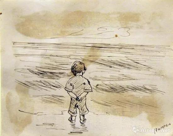 这些大艺术家 可能小时候就比你画的好