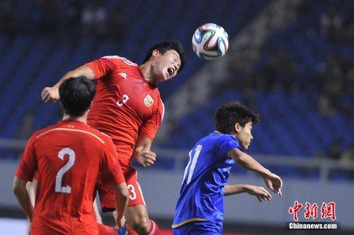 中国男足3-0胜泰国 2014足球友谊赛 国足3-0胜