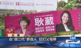 """台湾""""政二代""""参选人,狂打父母牌"""