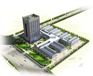 全省最大机电城龙福机电 23层高楼2012年建成