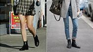 短靴这么穿才更显腿长