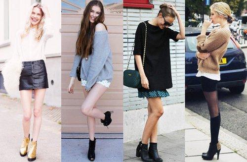 时髦小短靴 拉长比例显瘦腿