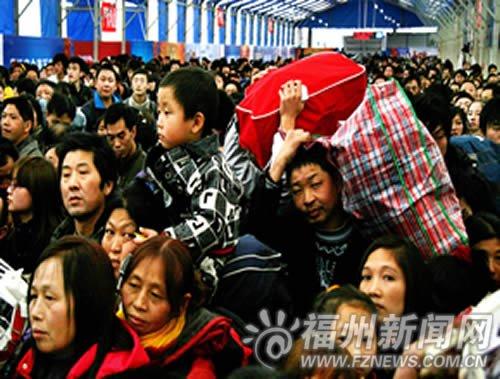 榕火车站旅客发送量日增 西南方向列车有余票