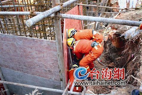 海沧在建工地塌方 一名工人被困最终不幸身亡