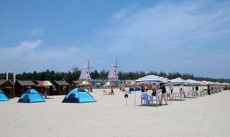 想去沙滩踩浪花?湄洲岛九宝澜黄金沙滩