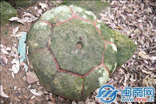 新发现的石盖长满青苔