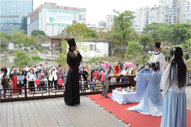 茶亭起舞声色起 闽院学子花朝节活动引市民驻足