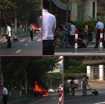 厦门:歹徒挟持人质 逃逸时引爆豪车