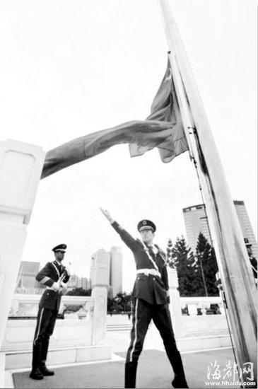 福州五一广场 2011第一旗升起(图)