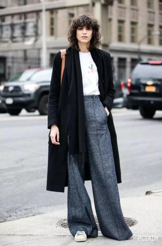 冬季大衣有了, 你还差一条能藏住秋裤和肉肉的阔腿裤