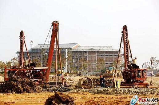 2020年世中运主场馆在这里!晋江市第二体育中心场馆建设打下第一桩