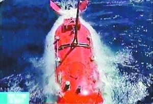 中国载人潜水器破3700米 在南海底插国旗