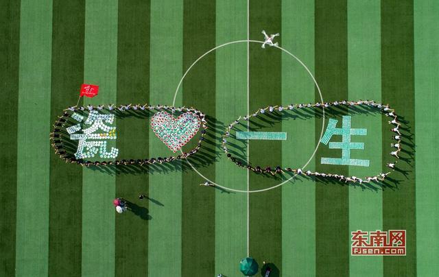 """德化千人徒步传递陶瓷文化 520个瓷花盘摆成""""瓷 """"字样【组图】"""
