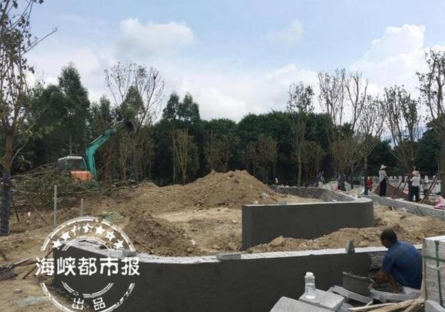 福州串珠公园示范点正在紧张施工 有望提前完工