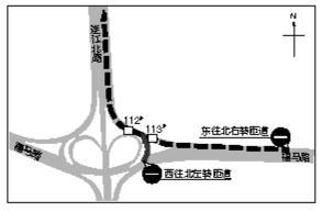 福州地铁2号线施工 五里亭立交桥部分匝道管制