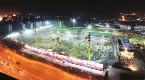 福州仓山万达广场:高峰时8000人同时施工