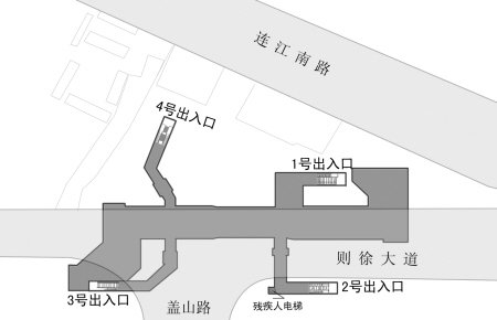 白湖亭地铁站出入口确定 2号西侧设垂直电梯