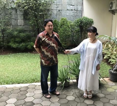 莆籍世界羽坛巨星林水镜 在印尼接受家乡记者专访