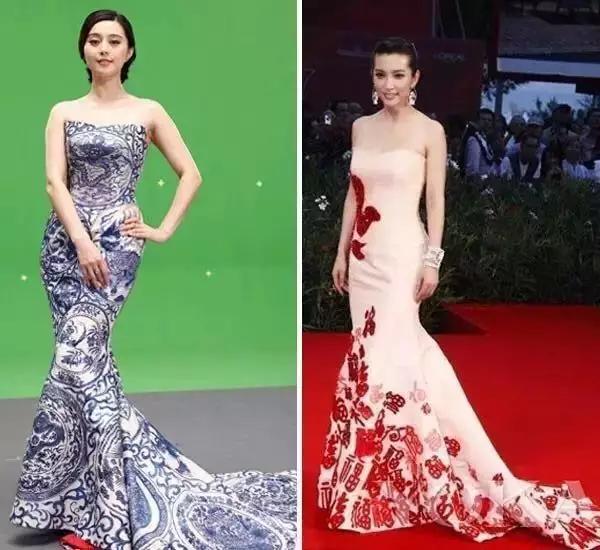 郭培分别为刘诗诗,angelababy,陈妍希设计的嫁衣图片