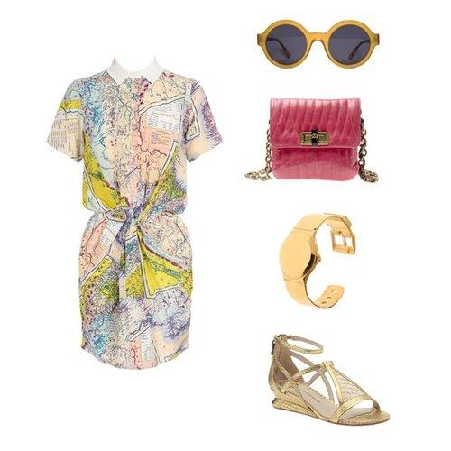 夏日衬衫式连衣裙的搭配法则