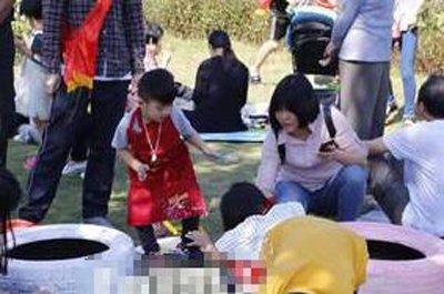 """""""福州儿童公园轮胎彩绘活动200多人参加"""