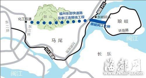 届时,就可从这座福州最大的跨江大桥,来往马尾亭江和琅岐岛.