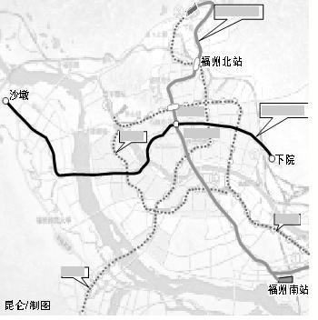 福州地铁2号线开始勘察 力争2016年建成通车