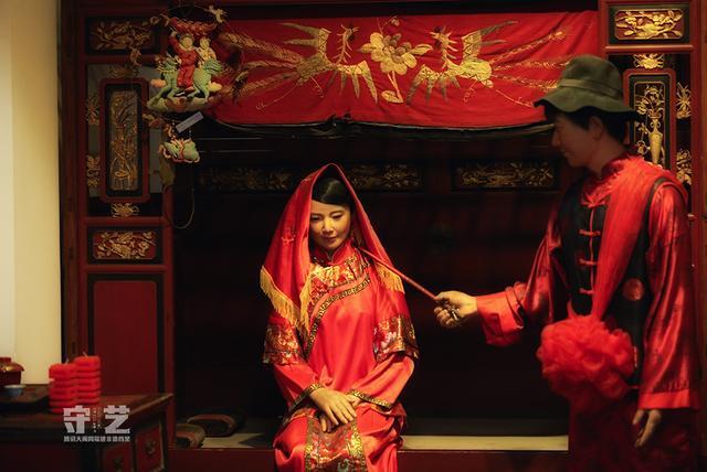 欧式婚礼蓝色嫁妆