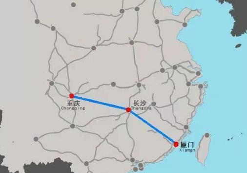 设想线路:重庆-长沙-赣州-厦门-福厦高铁拟年底动工 未来厦门去湘渝图片