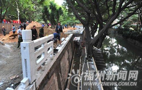 白马河步行道动工 连接西湖公园和闽江公园