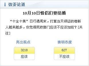 近九成网友关注2010年10月10日民政部门值班