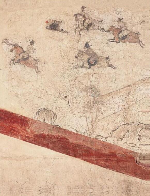 唐章怀太子墓壁画《马球图》(局部)
