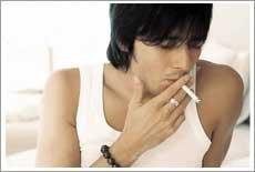 吸烟减压→肺癌