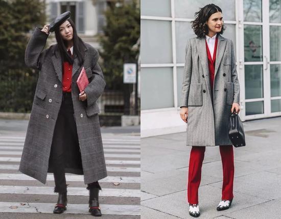 灰色大衣太普通 6种高段穿法传授给你