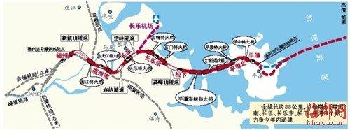福州至平潭高铁规划选址公示 力争年内动工建设