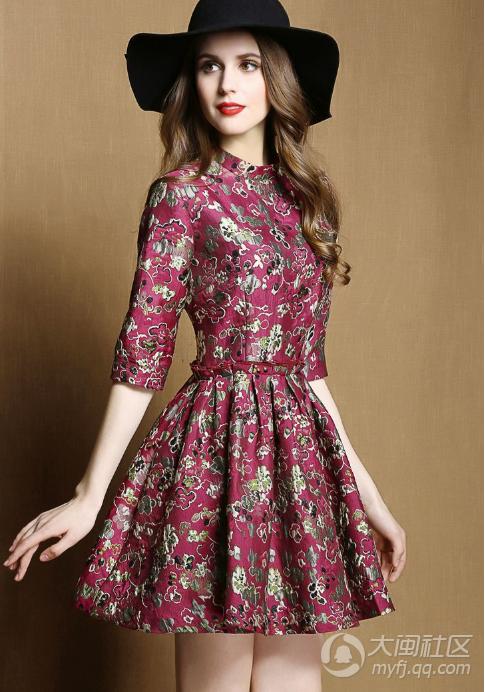漂亮春天花花连衣裙 通通都在这