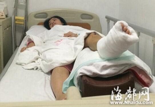 脚受伤在医院包扎图片