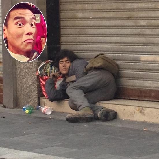 成都街头现乞丐版彭于晏 网友 在拍戏么图片