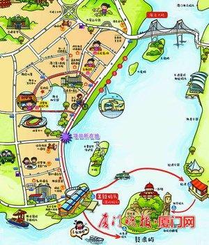 儿童美食手绘地图
