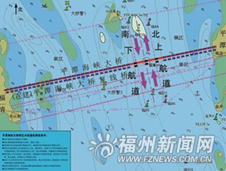 平潭海峡大桥航路指引发布 非通航桥孔勿穿行