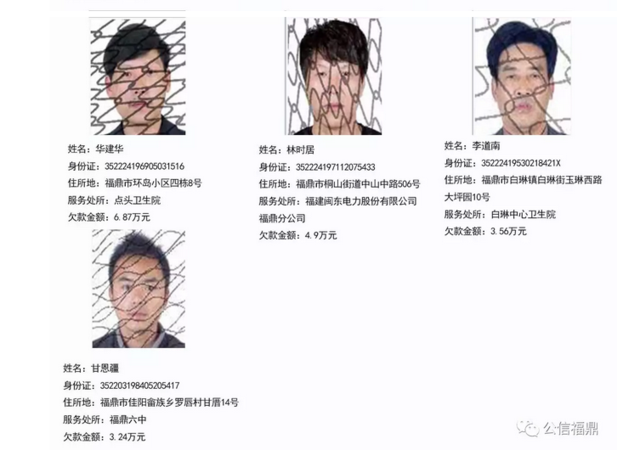 """宁德公布31名预拘留公职""""老赖"""" 最高欠款679万"""