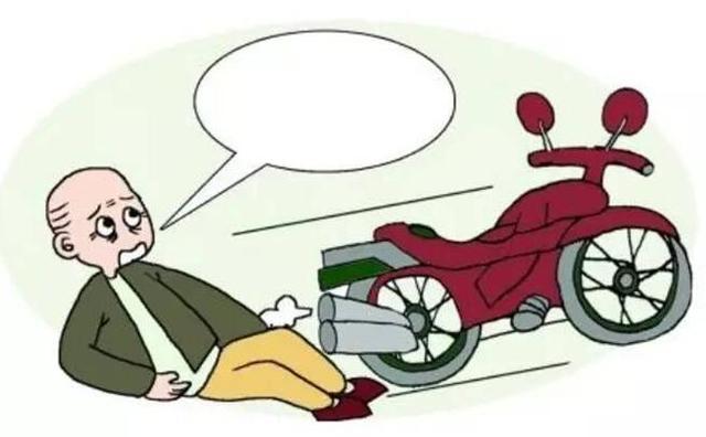 福州一男子骑摩托摔倒受伤后 还被民警带走