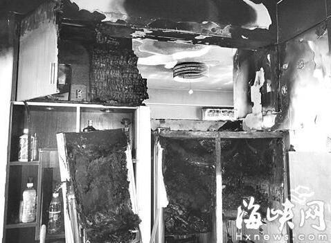 福州一对夫妻新婚夜家中起火 疑因冰箱自燃所致