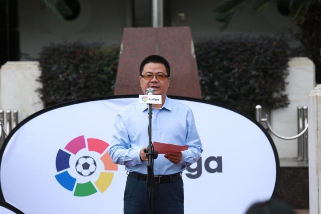 西甲助力中国足球教育 携奥运冠军马林访福州