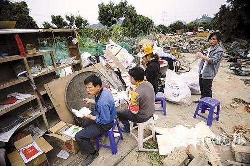 深圳一农场被强制拆迁 200余农民无家可归(图)