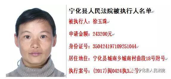 三明最新一批老赖名单公布 最高欠下697万元