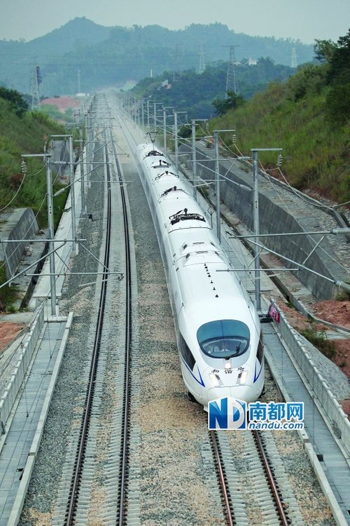厦深高铁拟明年初通车厦门动车或直达广州