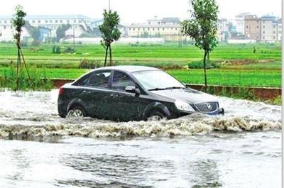 榕城连日暴雨 多辆汽车在水中熄火