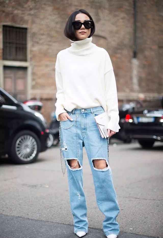 毛衣和牛仔这样搭配 一样可以时髦上天