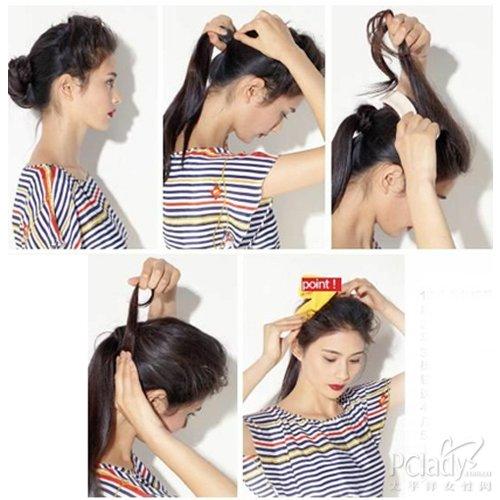 4款扎发简单上手 巧用发带更拉风